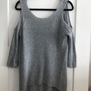 Express grey cold shoulder sweater